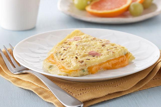 Cheesy Ham Omelet