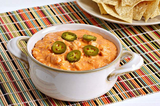 Slow Cooker Sweet & Spicy BBQ Buffalo Chicken Dip Recipe