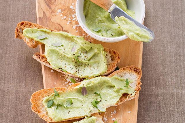 Avocado-Hummus Bruschetta