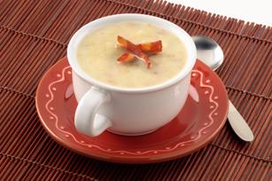 Luscious Potato, Leek & Bacon Soup